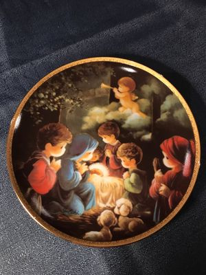 """Vintage Hamilton Collection """"Come Let Us Adore Him"""" Plate for Sale in Graham, WA"""