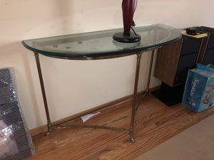 Glass top half moon console table for Sale in Saratoga, CA