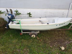 Boat and trailer motor for Sale in Obetz, OH