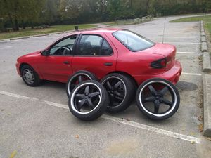 """DIP 20"""" 5 lug universal 20 inch Rock Star Rims with like new 245/35ZR20 tires for Sale in Columbus, OH"""