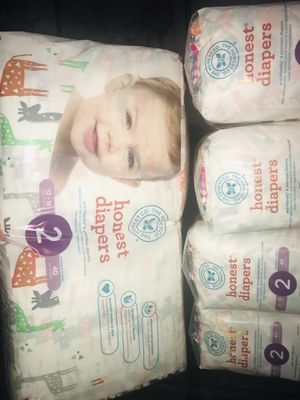 $25 5 Packs Honest Diapers Size 2 Giraffe print for Sale in Silver Spring, MD