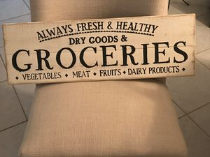 Beautiful GROCERIES sign for your kitchen. Add a touch of modern. for Sale in Pembroke Pines, FL