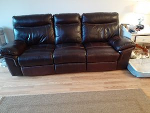 Italian leather reclining sofa ,reclines at both ends of sofa.Good condition,well taken care of! for Sale in Lynchburg, VA