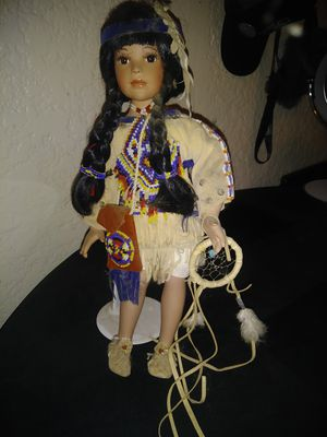 Standing indian girl doll for Sale in Bakersfield, CA