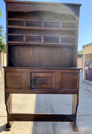 Gorgeous Antique China Hutch with Buffet & storage cupboard for Sale in Long Beach, CA