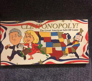 Clintonopoly Board Game for Sale in Riverside, CA