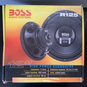 Boss 12 Inch Subwoofer Speaker 600 Watts Sound Audio Upgrade for Sale in Lincoln Acres, CA