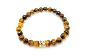 Natural tiger eye gemstone and Swarovski protection for Sale in Brooklyn, NY