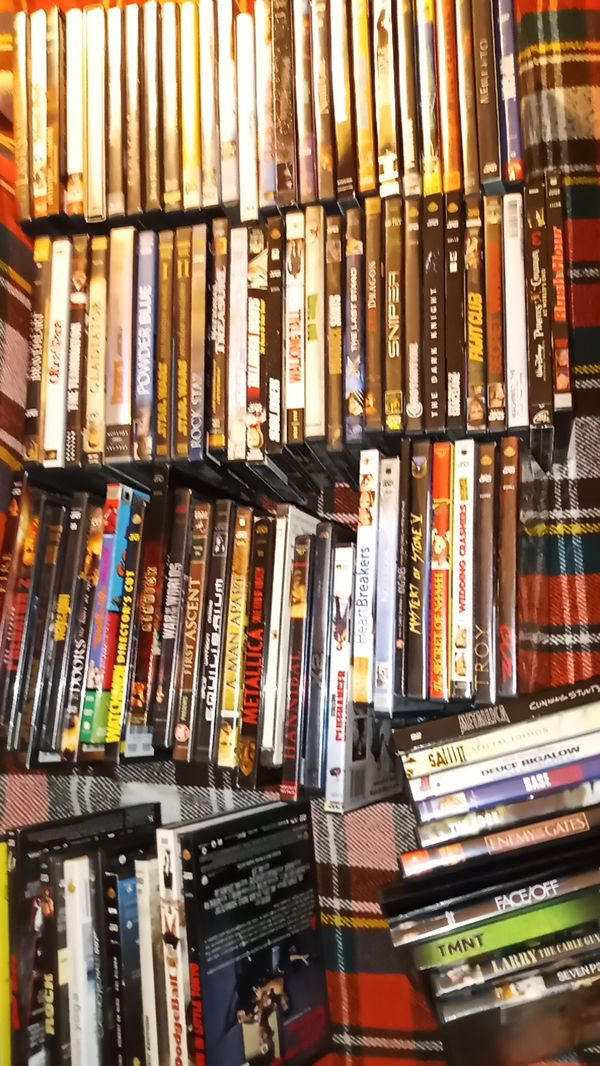 130 DVDS (MOSTLY SPECIAL EDS) ALMOST ALL PLAYED ONCE + Portable disc player
