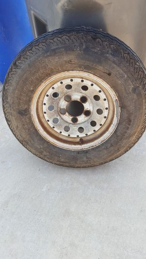 Trailer tire w wheel for Sale in La Mesa, CA
