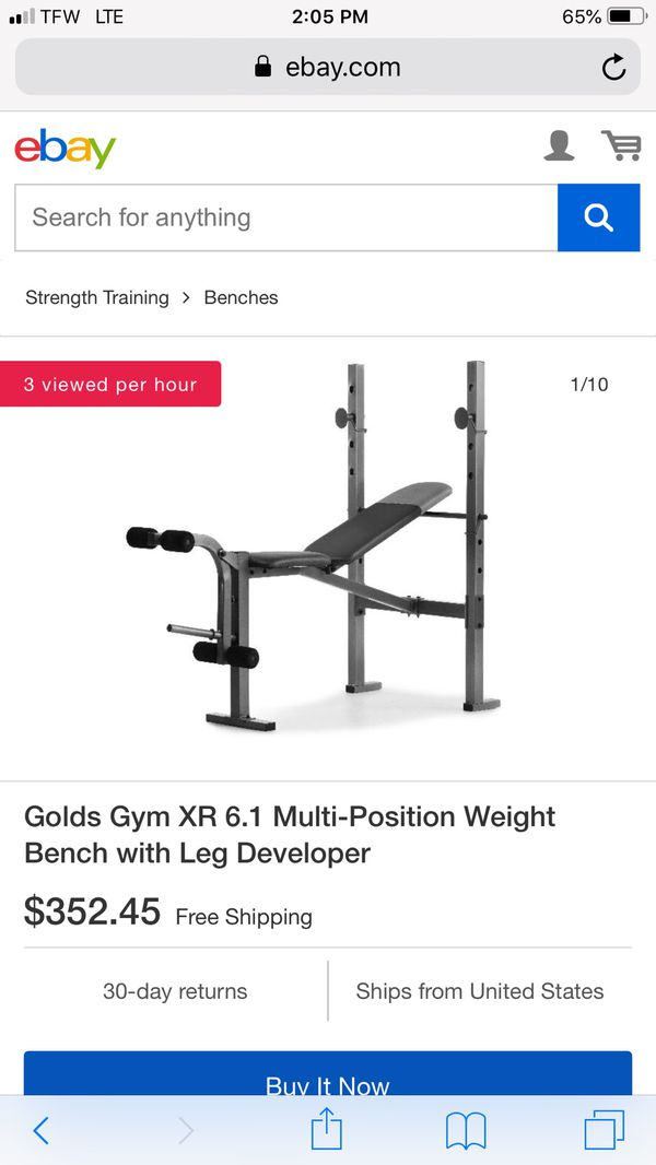 New never used still sealed weight bench