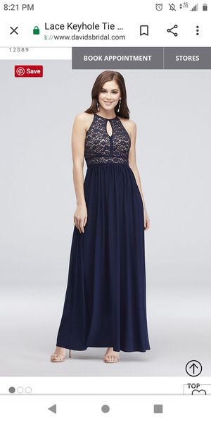 Prom dress, bridesmaids dress in Navy Blue for Sale in Arlington, TX