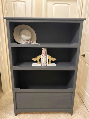Modern Charcoal Bookcase or Toybox for Sale in Cypress, TX