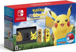 Pokemon lets go pikachu nintendo switch for Sale in Phoenix, AZ
