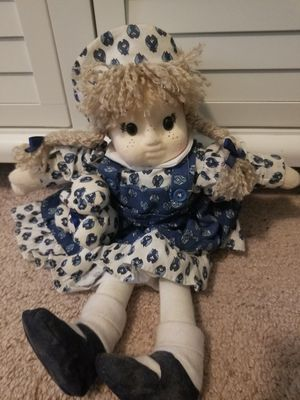 Plush antique doll for Sale in Charlotte, NC