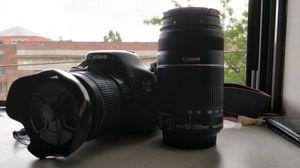 Canon t3i (18-55mm + 55-250mm lenses) for Sale in Philadelphia, PA