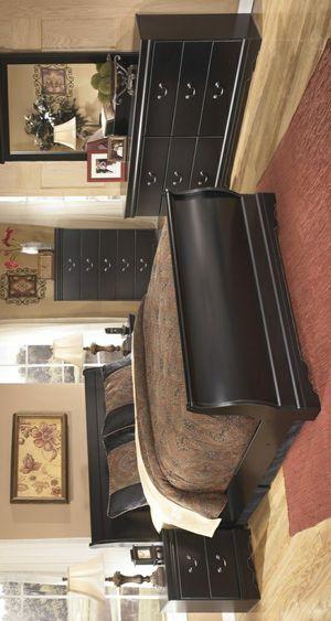 BRAND NEW💥Huey Vineyard Black Sleigh Bedroom Set for Sale in Jessup, MD