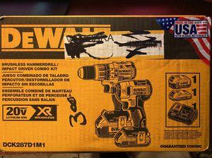 Dewalt DCK287D1M1 Drills combo kit 2) tools impact driver & a Hammer drill 5.0ah 2) batteries plus charger for Sale in Berkeley, CA