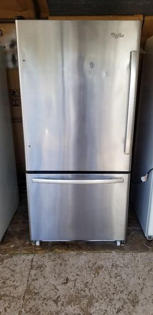 Whirlpool stainless steel refrigerator with bottom freezer for Sale in Lakeside, CA