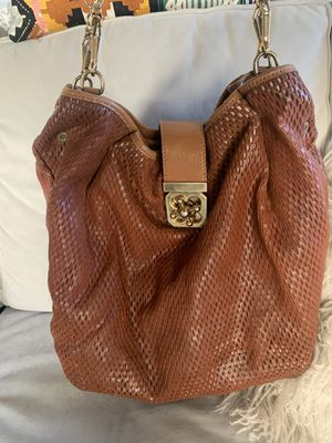 Chloe Twist Clasp Brown Leather Tote for Sale in Los Angeles, CA