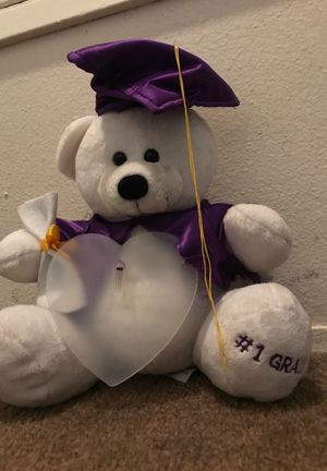 1grade Graduation stuffed teddy bear for Sale in El Cajon, CA