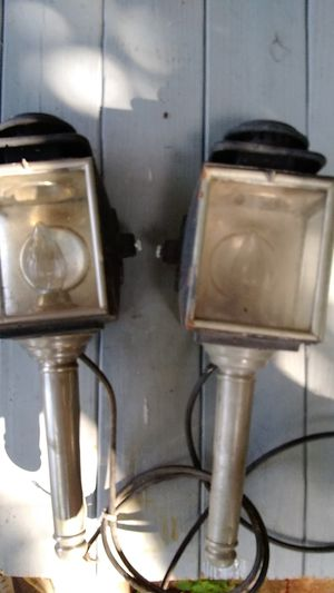 ANTIQUE AUTOMOBILE HEADLAMPS TURNED INTO PORCH LAMPS for Sale in Lake Worth, FL