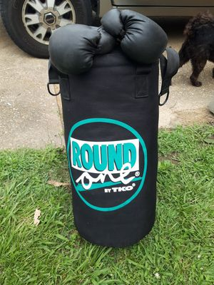 Punching bag with gloves for Sale in Barnhart, MO