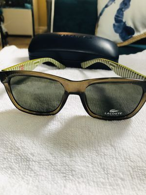 NEW Lacoste Military Green Sunglasses w/case! for Sale in Huntington Beach, CA