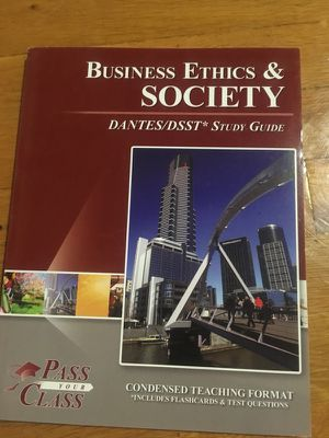 Business Ethics and Society study guide for Sale in Fort Leonard Wood, MO