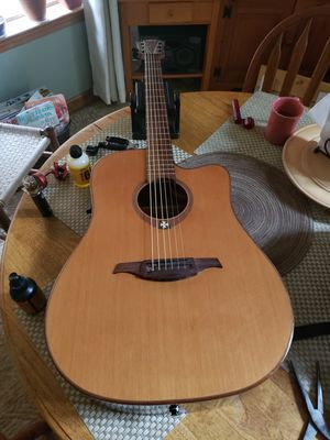 Lag t100dce acoustic electric guitar fresh setup retail $400 for Sale in Stockbridge, GA