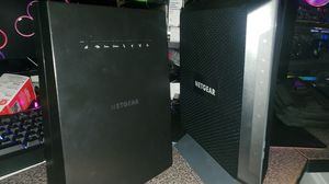 NETGEAR AC1900 Cable Modem Router C7000 and NETGEAR Mesh Range Extender EX8000 for Sale in Las Vegas, NV