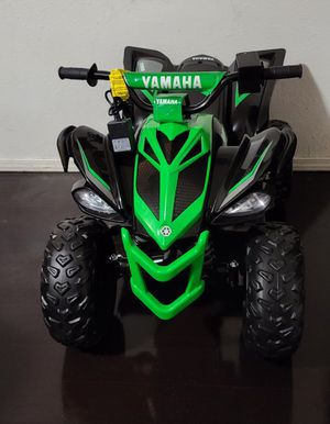 12 Volt Yamaha Raptor Battery Powered Ride-on Black/Green - NEW Custom Graphic Design! for Sale in Bakersfield, CA