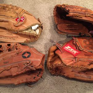 Assorted Baseball Gloves/Mitts for Sale in Levittown, PA