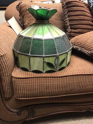 Vintage stained glass hang lamp for Sale in Brockport, NY