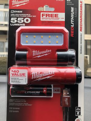 Rechargeable milwaukee flashlight for Sale in South Brunswick Township, NJ