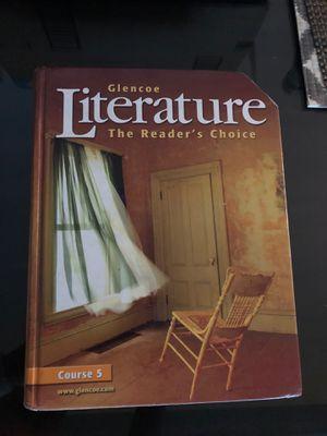 Glencoe Literature Hard Cover book for Sale in La Mirada, CA