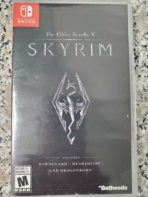 Nintendo switch skyrim game for Sale in Irving, TX