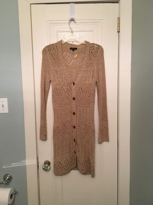 BCBGMaxAzria Long Crocheted Cardigan Sweater for Sale in Pittsburgh, PA