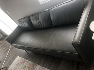 West elm leather couch for Sale in Carlsbad, CA