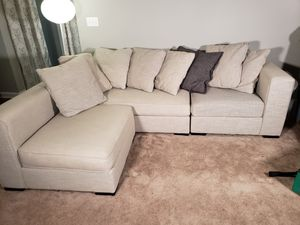 Sectional couch with ottoman for Sale in Marietta, GA