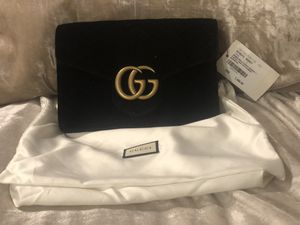 Gucci Marmont 2.0 black velvet wallet for Sale in Melrose, TN