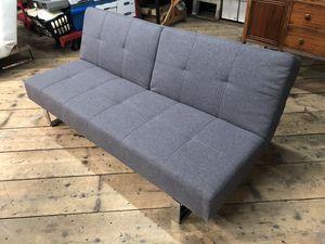 Grey Futon, Small Sofa, Couch, Adjustable for Sale in Tacoma, WA