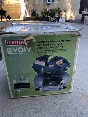 Craftsman Evolv compressor and staple gun for Sale in South Gate, CA