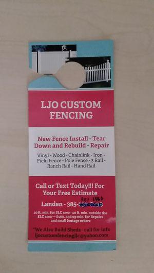 L.J.O. Custom Fencing LLC for Sale in West Jordan, UT