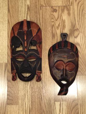 Handcarved African Mask/ Set of 2 for Sale in Los Alamitos, CA