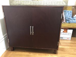 Dark brown storage cabinet with adjustable shelf and drawer for Sale in San Francisco, CA