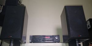 $350 polk rti38 speakers + sony anfm receiver amp for Sale in Charlottesville, VA