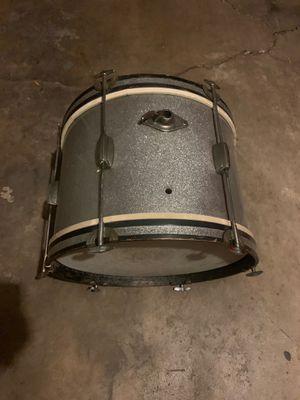 Vintage sliver sparkle kick drum Japan 1960's for Sale in Los Angeles, CA