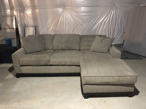 Sofa with Reversible Side Chaise for Sale in Ashburn, VA