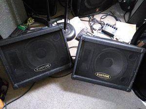 Kustom 10m Floor monitors(Pair) for Sale in Thornville, OH